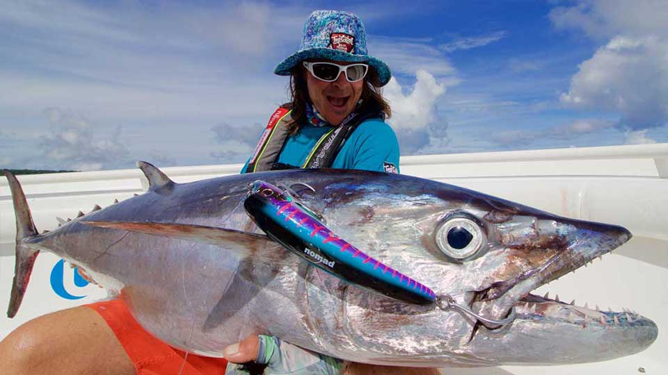 ocean blue fishing catch dogtooth tuna